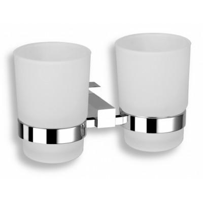 Titania Anet - Držák kartáčků a pasty sklo dvojitý,  66357.0