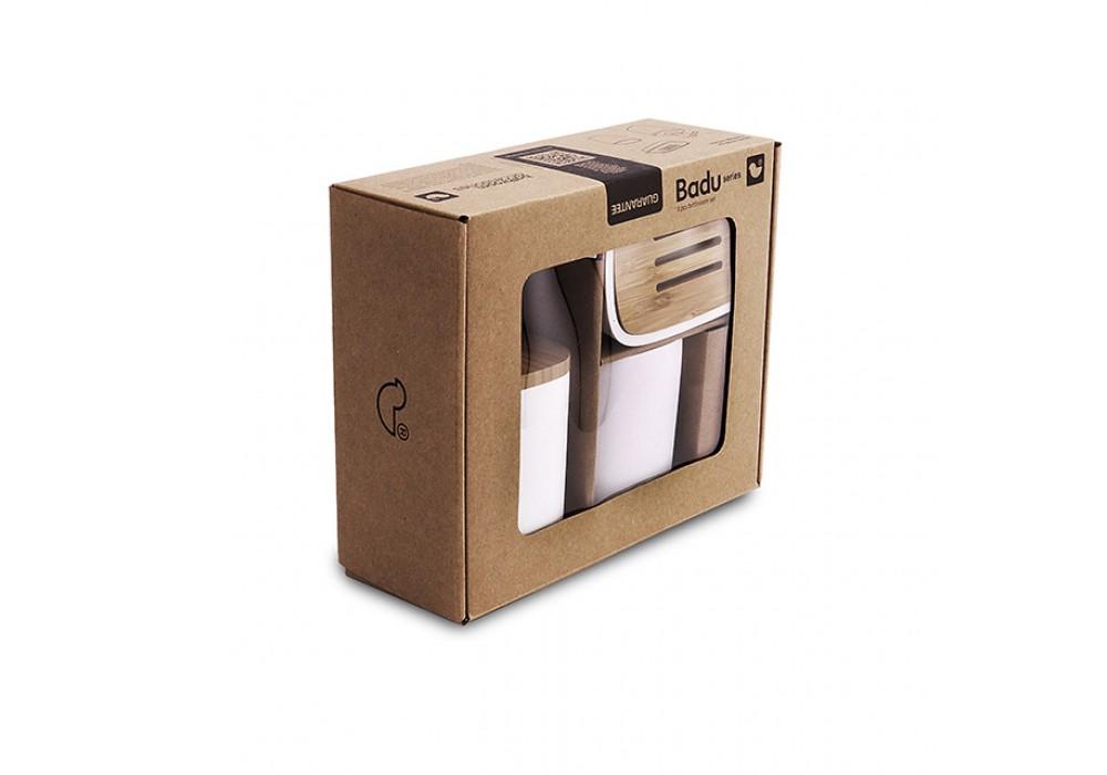 Badu-dávkovač, mýdlenka, dóza na kartáčky - BA 28000SET-05