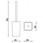 Eli - stojánkový WC kartáč,   EL 3094-20
