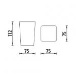 Eli - pohárek na kartáčky,   EL 3058-35