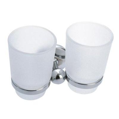 Metalia  1 - Držák kartáčků dvojitý sklo,     6157.0