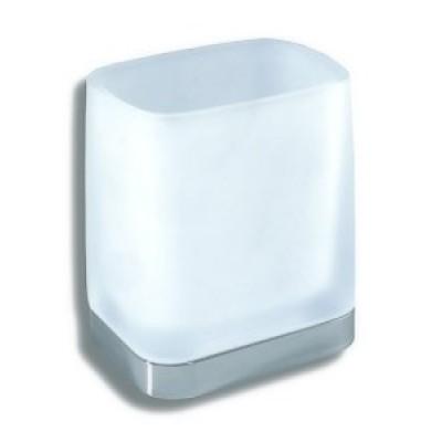 Metalia  4 - Držák kartáčků a pasty sklo,  6406.0  chrom
