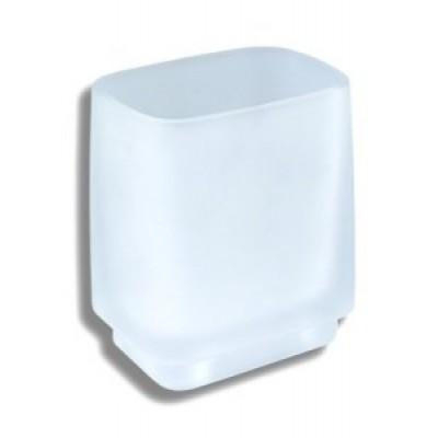 Metalia  4 - Držák kartáčků a pasty sklo na postavení,  6406/1.0  chrom